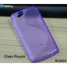 Силиконов калъф / гръб / ТПУ S-Line за Sony Ericsson Xperia Arc X12 / Arc S - лилав