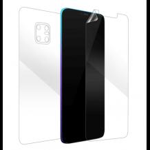 Удароустойчив извит скрийн протектор 360° / 3D Full Body Nano Shapq Memory Film / за Huawei Mate 20 Pro - прозрачен / лице и гръб