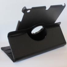 Кожен калъф за таблет Apple iPad 5 / iPad Air със стойка въртяща се на 360 градуса - черен