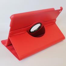 Кожен калъф за таблет Apple iPad 5 / iPad Air със стойка въртяща се на 360 градуса - червен