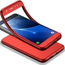 Луксозен силиконов калъф / гръб / TPU 360° за Motorola Moto G6 - червен / лице и гръб