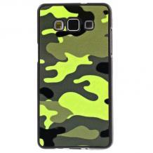 Силиконов калъф / гръб / TPU за Samsung Galaxy J5 / Galaxy J5 - жълт / камуфлаж