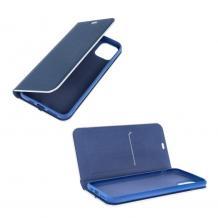 Луксозен кожен калъф Flip тефтер Vennus за Samsung Galaxy A32 4G - тъмно син / carbon