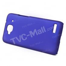 Заден предпазен твърд гръб / капак / за Alcatel One Touch Idol Mini OT 6012 - тъмно син / матиран