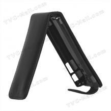 Кожен калъф Flip тефтер за Sony Xperia TX LT29i - черен