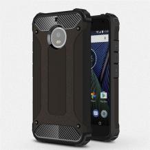 Силиконов гръб TPU Spigen Hybrid с твърда част за Lenovo Moto G5S - черен