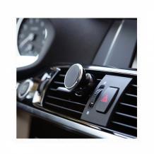 Магнитна универсална стойка за кола Air Vent - черна с червено