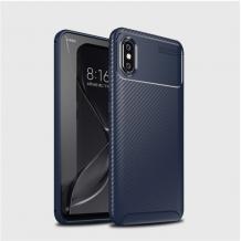 Луксозен силиконов калъф / гръб / TPU Auto Focus за Xiaomi Mi 8 Pro - тъмно син / Carbon