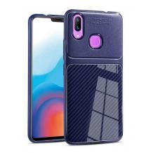 Луксозен силиконов калъф / гръб / TPU Auto Focus за Samsung Galaxy A30 - тъмно син / Carbon