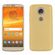 Силиконов калъф / гръб / TPU за Motorola Moto E5 - златист / Carbon