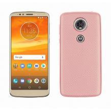 Силиконов калъф / гръб / TPU за Motorola Moto E5 Plus - Rose Gold / Carbon