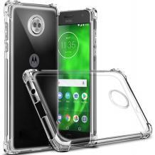 Удароустойчив силиконов калъф за Motorola Moto E5 Plus - прозрачен