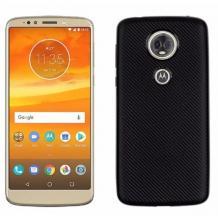 Силиконов калъф / гръб / TPU за Motorola Moto E5 - черен / Carbon