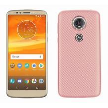 Силиконов калъф / гръб / TPU за Motorola Moto E5 - Rose Gold / Carbon