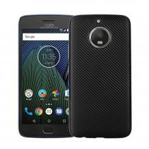 Силиконов калъф / гръб / TPU за Moto G5S+ / Moto G5S Plus - черен / Carbon