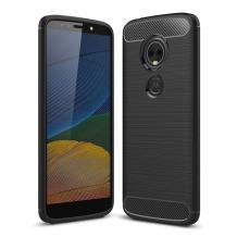Силиконов калъф / гръб / TPU за Motorola Moto G6 Play - черен / carbon