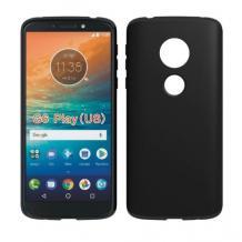 Силиконов калъф / гръб / TPU за Motorola Moto G6 Play - черен / мат