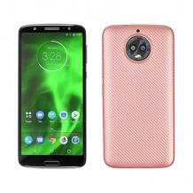 Силиконов калъф / гръб / TPU за Motorola Moto G6 - Rose Gold / Carbon