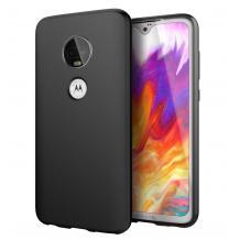Силиконов калъф / гръб / TPU за Motorola Moto G7 - черен / мат