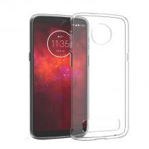Ултра тънък силиконов калъф / гръб / TPU Ultra Thin за Motorola Moto Z3 Play - прозрачен