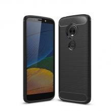 Силиконов калъф / гръб / TPU за Motorola Moto E5 Plus - черен / carbon