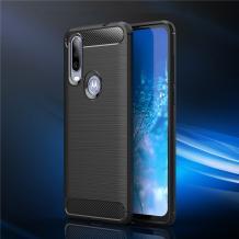 Силиконов калъф / гръб / TPU за Motorola One Action - черен / carbon
