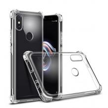 Удароустойчив силиконов калъф за Motorola One - прозрачен