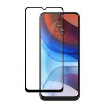 Удароустойчив протектор 3D Full Cover / Nano Flexible Screen Protector за дисплей на Motorola Moto G Play 2021 - черен