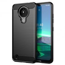 Силиконов калъф / гръб / TPU за Nokia 1.4 - черен / carbon