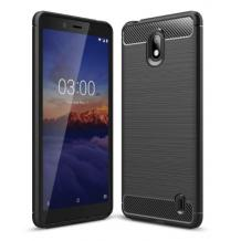 Силиконов калъф / гръб / TPU за Nokia 1 Plus - черен / carbon