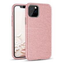 Силиконов калъф / гръб / TPU за Samsung Galaxy Note 20 - розов / брокат