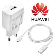 Оригинално зарядно устройство Quick Charge 220V 2А за Huawei Honor 9X / Type-C - бяло