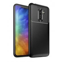 Луксозен силиконов калъф / гръб / TPU Auto Focus за Xiaomi Pocophone F1 - черен / Carbon