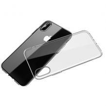 Луксозен силиконов калъф / гръб / TPU 2.0mm за Apple iPhone X / iPhone XS - прозрачен