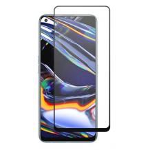 3D full cover Tempered glass Full Glue screen protector Realme 7 Pro / Извит стъклен скрийн протектор с лепило от вътрешната страна за Realme 7 Pro - черен