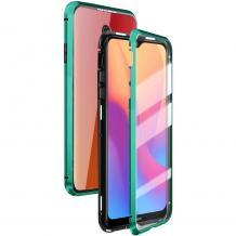 Магнитен калъф Bumper Case 360° FULL за Xiaomi Redmi 8A - прозрачен / зелена рамка