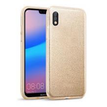 Силиконов калъф / гръб / TPU за Xiaomi Redmi 9A - златист / брокат