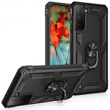 Силиконов гръб Spigen със стойка и магнитно захващане за Samsung Galaxy S21 Plus – черен