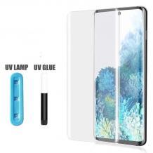 UV Full Cover Tempered Glass Full Glue Screen Protector Samsung Galaxy Note 10 Plus N975 / Извит UV стъклен скрийн протектор с лепило от вътрешната страна за Samsung Galaxy Note 10 Plus N975