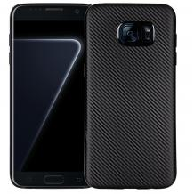 Силиконов калъф / гръб / TPU за Samsung Galaxy S7 G930 - черен / Carbon