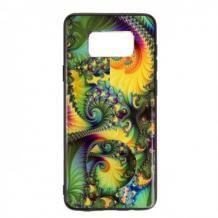 Луксозен силиконов калъф / гръб / TPU с Popsocket за Samsung Galaxy S8 Plus G955 - многоцветен / абстрактен