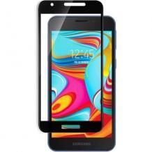 5D full cover Tempered glass Full Glue screen protector Samsung Galaxy A2 Core / Извит стъклен скрийн протектор с лепило от вътрешната страна за Samsung Galaxy A2 Core - черен