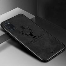 Луксозен гръб Deer за Samsung Galaxy A21s - черен