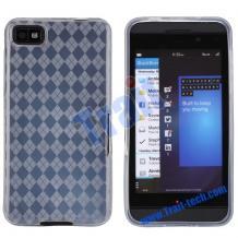 Силиконов калъф / гръб / TPU за BlackBerry Z10 - прозрачен на ромбове