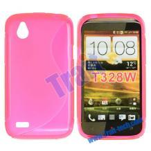 Сликонов калъф ТПУ S-Line за HTC T328W Desire V / Desire X - цикламен