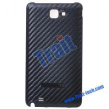 Заден капак Carbon Fiber за Samsung i9220 Galaxy Note N7000 черен
