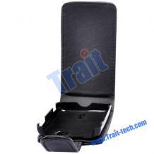 Кожен калъф Flip тефтер за Sony Ericsson Xperia Activе ST17i - черен