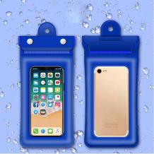 Универсален водоустойчив калъф Waterproof Case за мобилен телефон 6'' - син