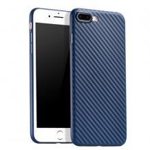 Ултра тънък силиконов калъф / гръб / TPU Ultra Thin за Apple iPhone 7 Plus / iPhone 8 Plus - син / Carbon