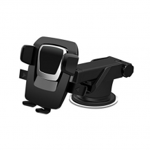 Универсална стойка за кола Easy One Touch Car & Desk Mount Holder - черна със сребристо / въртяща се на 360 градуса